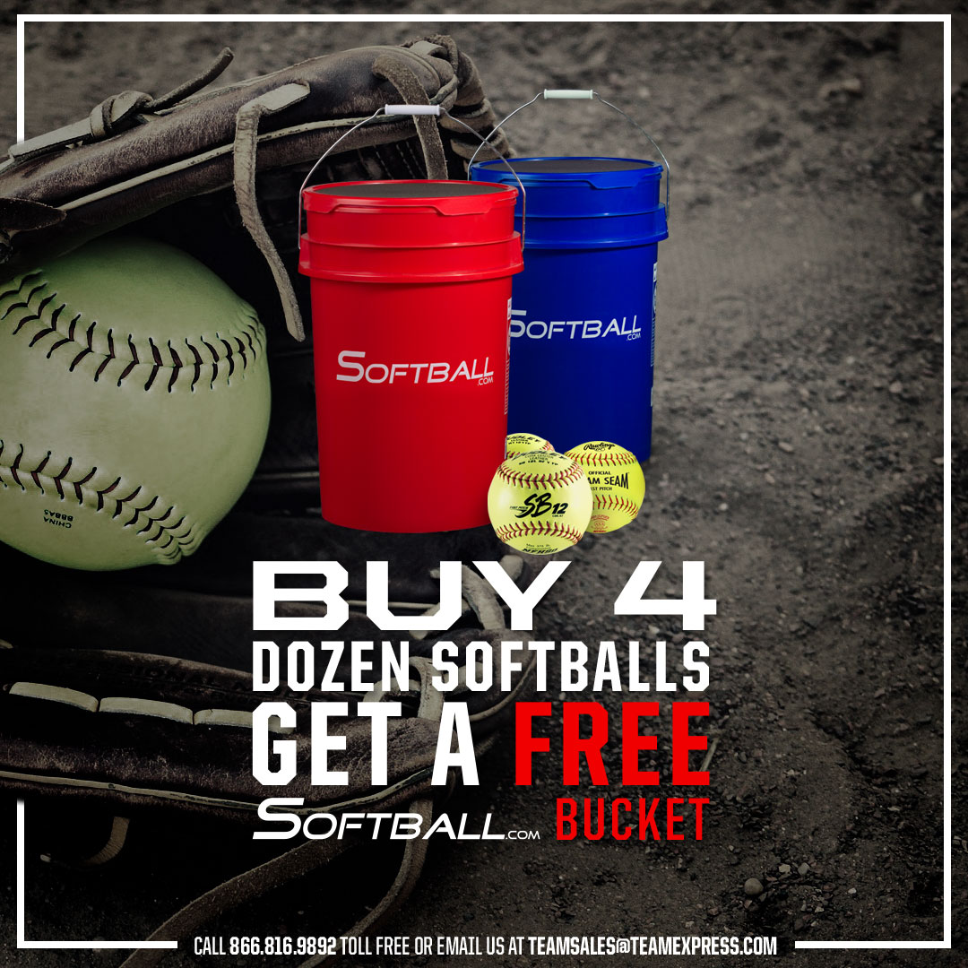 Softball Buckets Team Specials