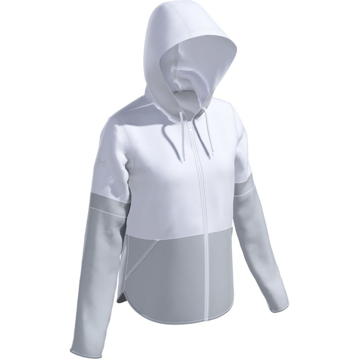 Under Armour Women/'s Squad Woven 1//2 Zip Color Gray