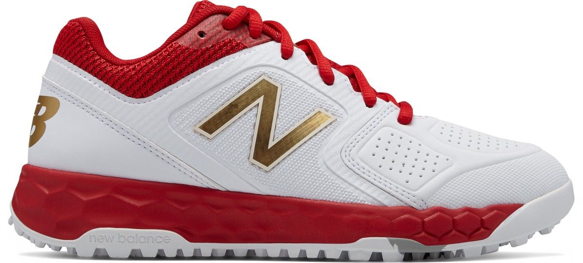 ladies new balance trainers red