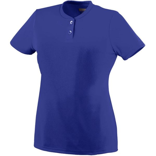 Augusta Girls' Wicking Two-Button Jersey