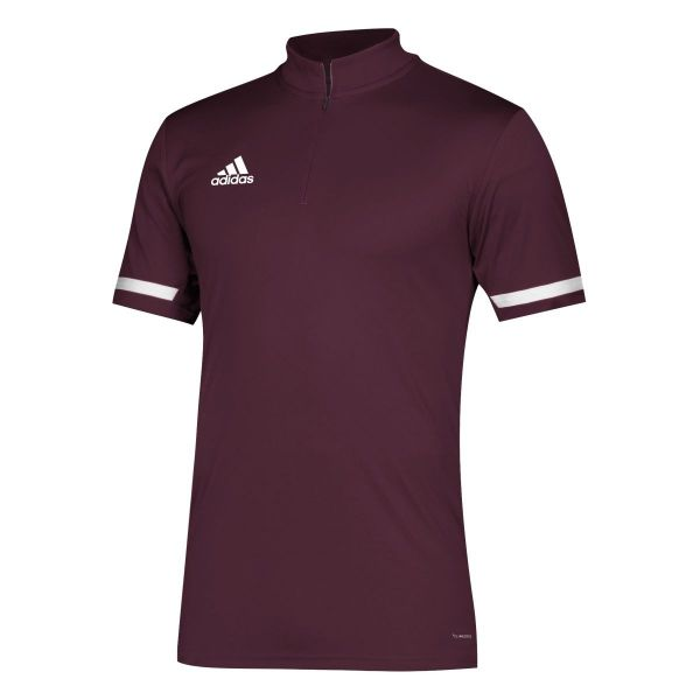 Adidas Men's Team 19 Short Sleeve 1/4 zip