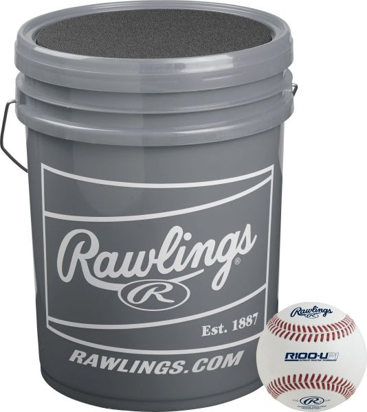 Rawlings R100UP1 Practice Baseball with Bucket (2 DZ)