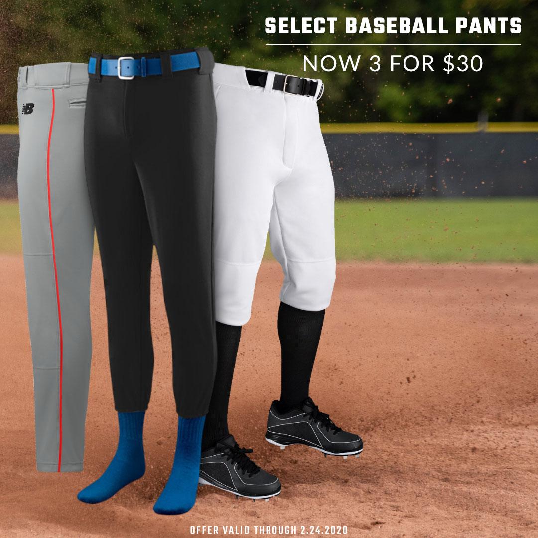 3 For $30 Baseball Pants