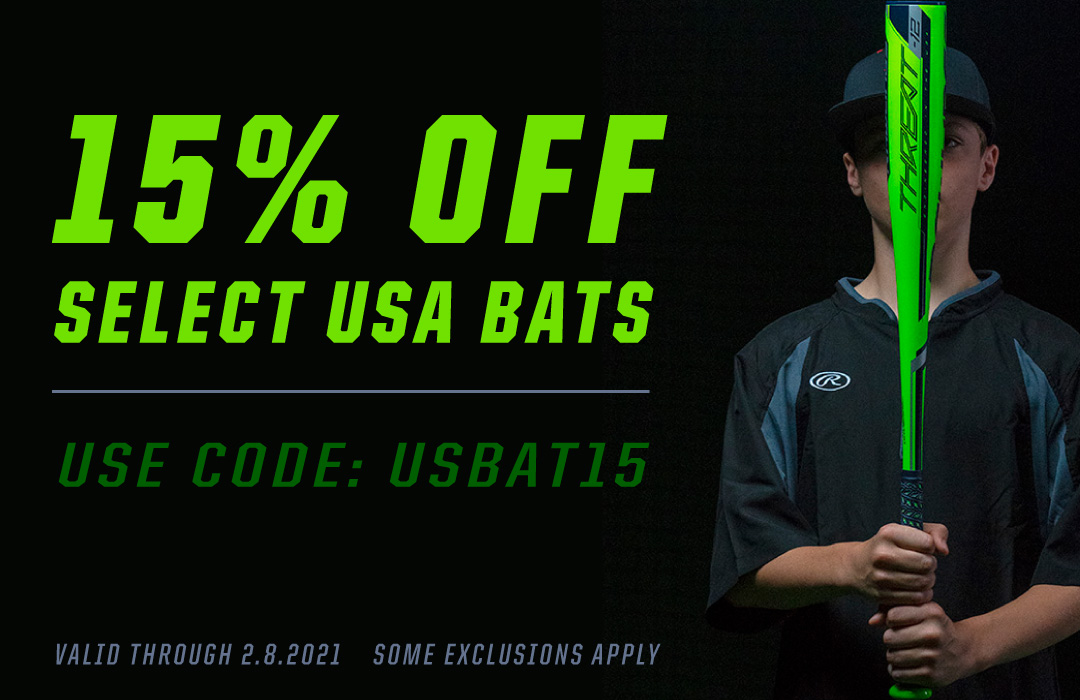 15% Off Select USA Bats